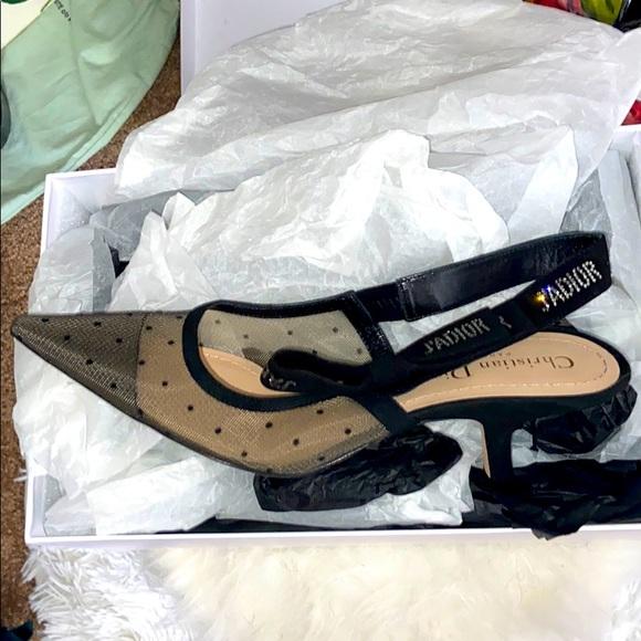 Dior sling back heels